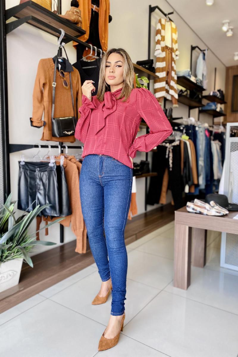 Foto do produto  Calça Fem. Teezz Jeans Escuro Jeans Escuro