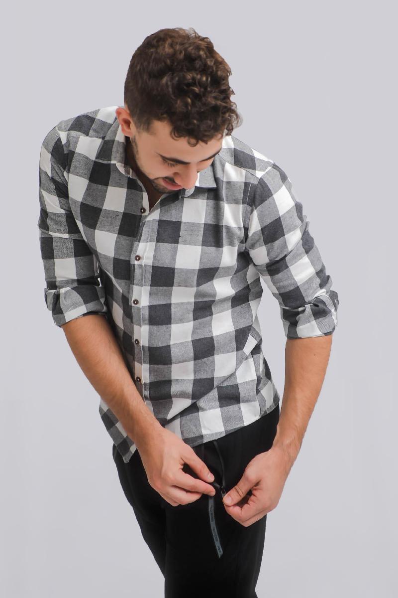 Foto do produto  Camisa Masc. Drazzo 110589 Cinza