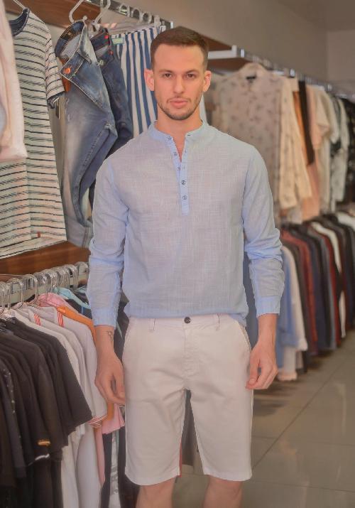 Foto do produto  Camisa Masc. Oyhan Azul