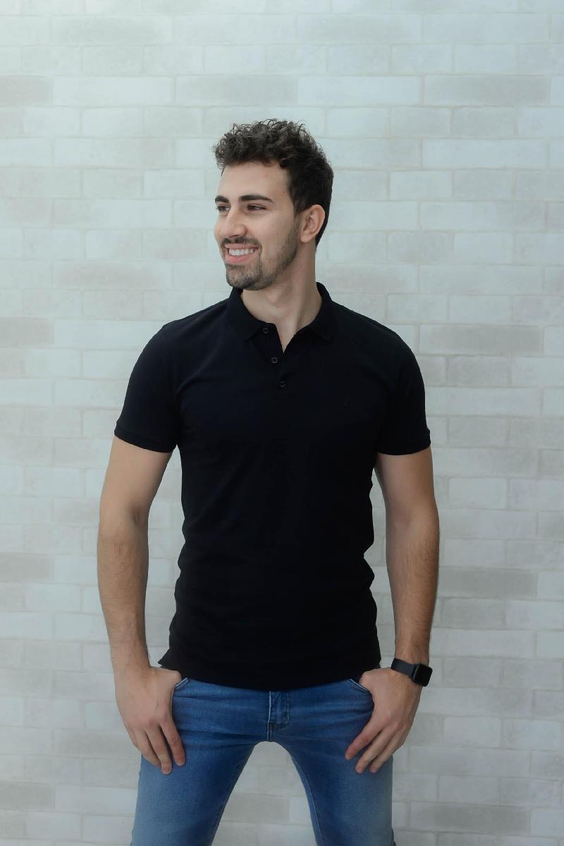Foto do produto  Camisa Polo Drazzo Preto