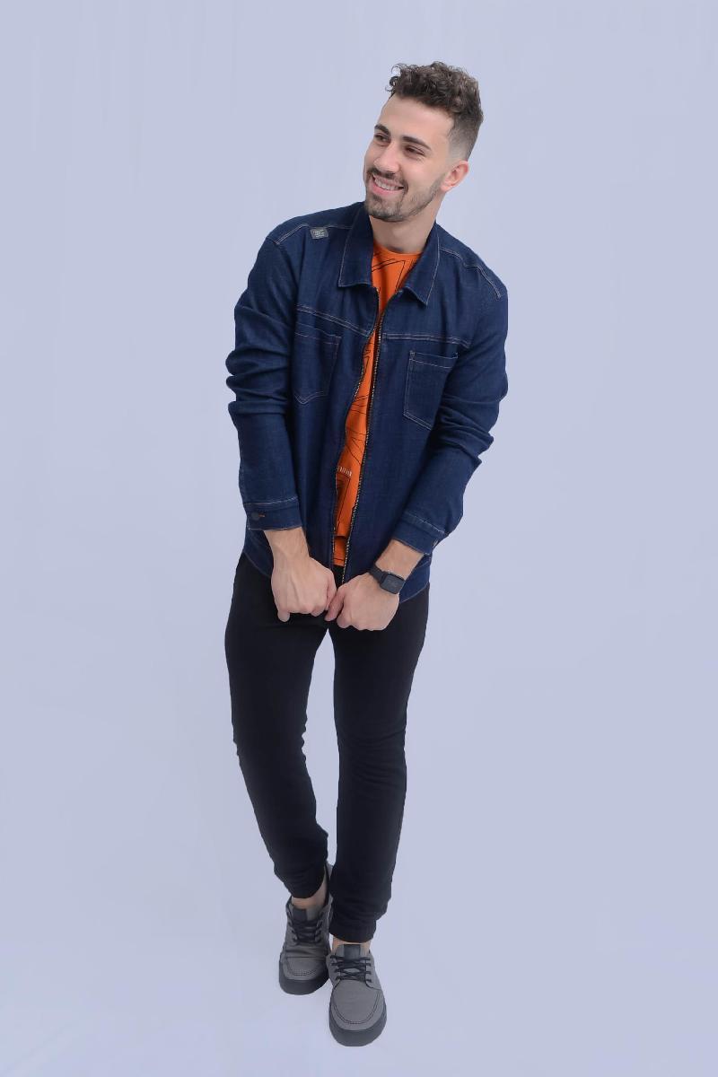 Foto do produto  Jaqueta Six One 5080148 Jeans Escuro