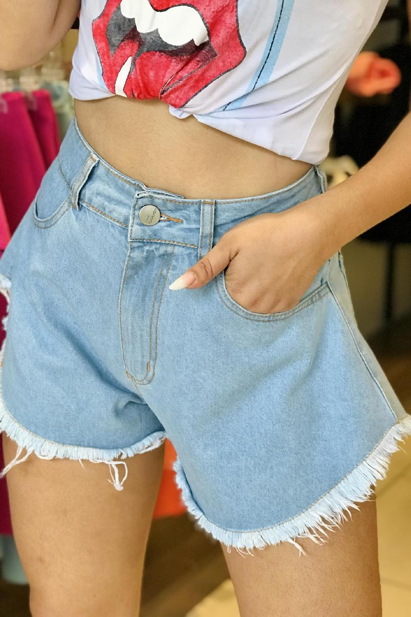 Foto do produto  Shorts Lady Rock Jeans Claro