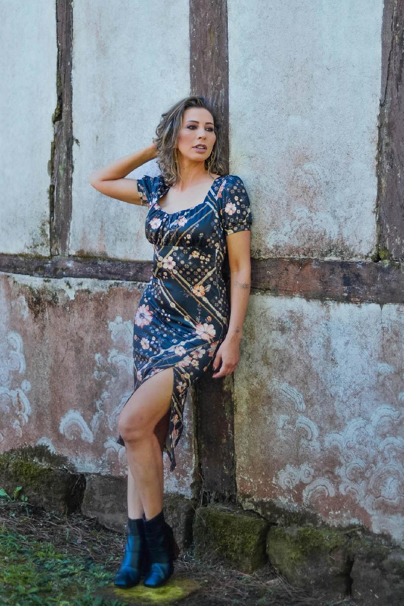Foto do produto  Vestido Yeskla Estampado